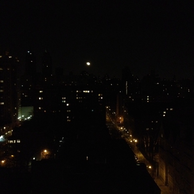 Full moon over 89th street at Amsterdam | Views of New York City | Pi ...