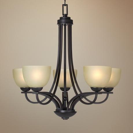 franklin iron works bennington collection 5 light chandelier. Black Bedroom Furniture Sets. Home Design Ideas
