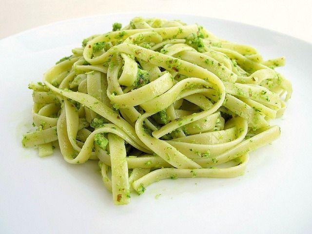 Fettuccine with Ramp Pesto   Favorite Recipes   Pinterest