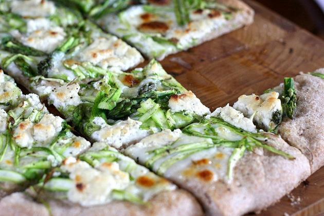 Shaved Asparagus Pizza | Recipe
