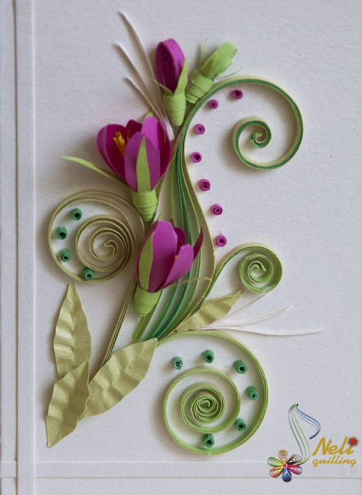 Neli quilling card flower art of quilling pinterest for How to quilling art