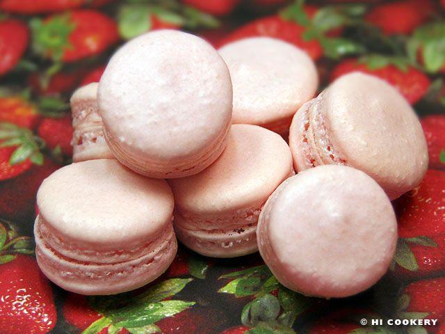 ... ://hicookery.com/2011/02/27/strawberry-macarons/ STRAWBERRY MACARONS