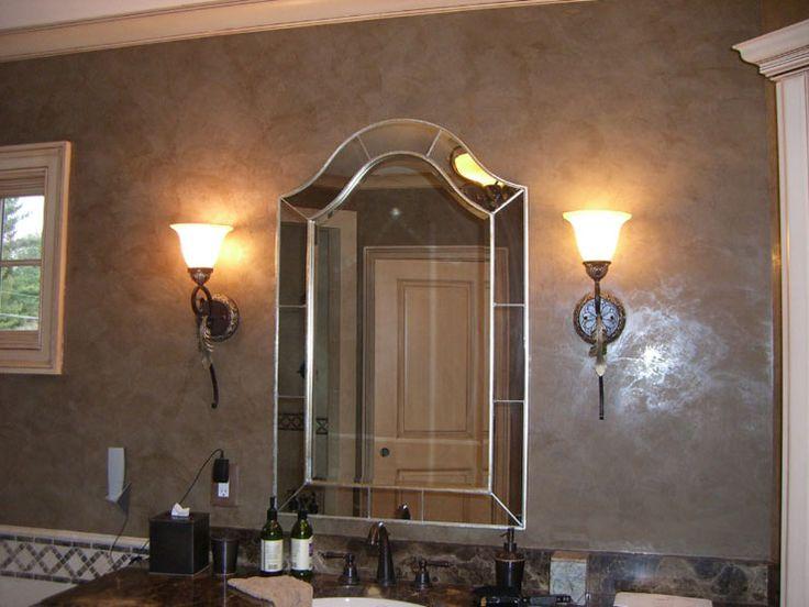 Venetian plaster downstairs bath pinterest for Venetian plaster bathroom ideas