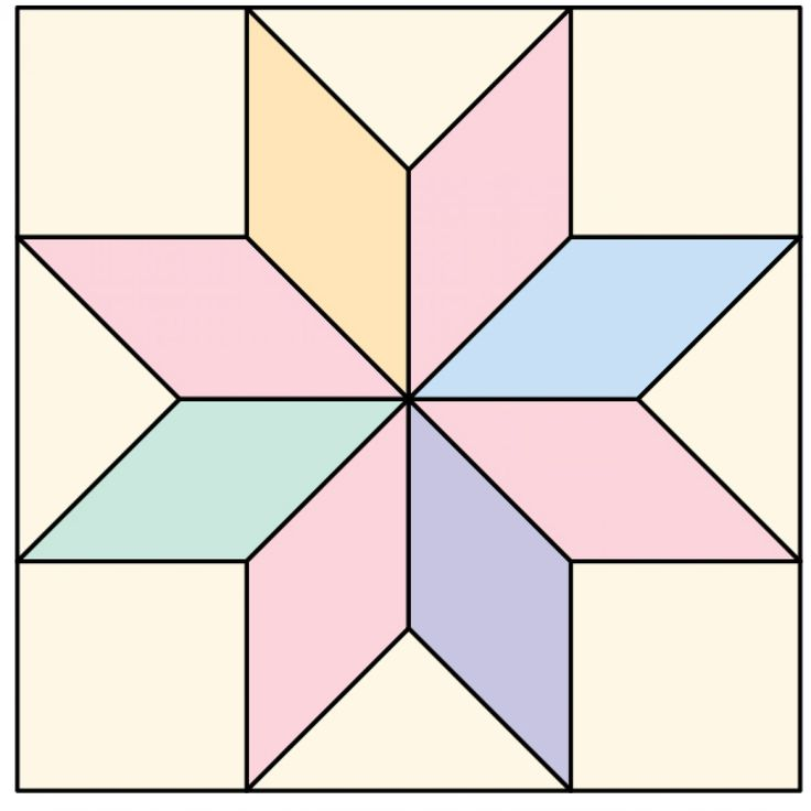 Free Quilt Pattern For 8 Point Star : Eight-Pointed Star
