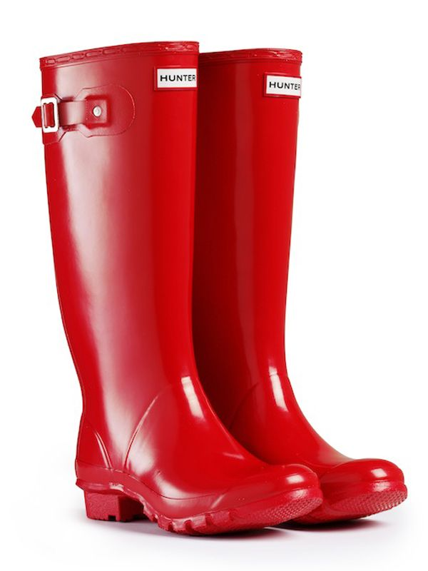 Pillar Box red Hunter Wellies