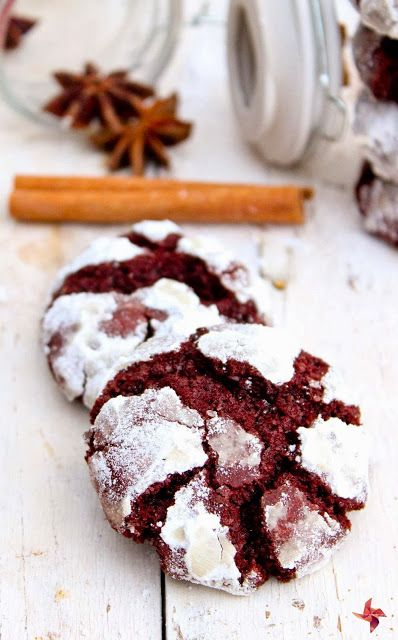 Red Velvet Crinkle Cookies | Things I Need to Remember | Pinterest