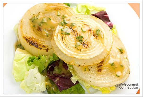 Grilled Onion Salad from MyGourmetConnection.com