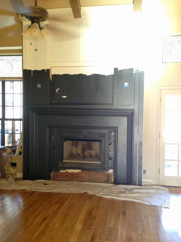 Painting The Fireplace Black TO DO Someday Pinterest