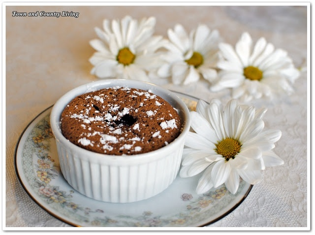Individual Chocolate Souffles - so easy to make!