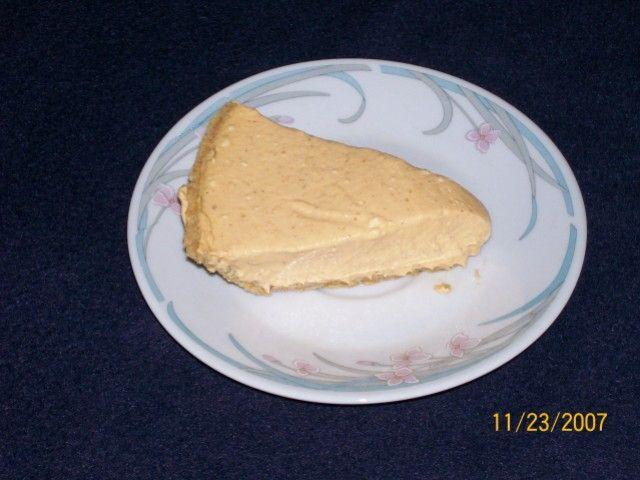 recipe for No-Bake Pumpkin Cheesecake made with cream cheese, pumpkin ...
