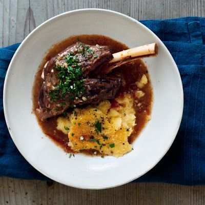 Braised Lamb Shanks with Gremolata and Baked Polenta Recipe - Key ...