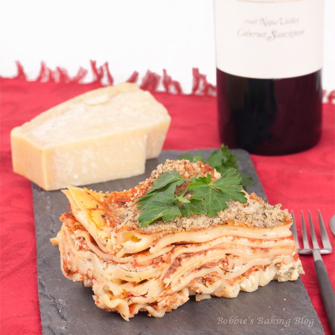 Four Cheese Lasagna | Eat This | Pinterest
