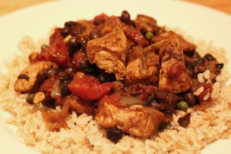 Jamaican Stew Chicken Recipe | Jamaican Chicken Stew With Brown Rice ...