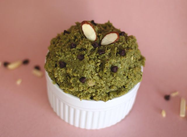 Sweet Matcha Almond Shortbread Cookie Dough | Recipe
