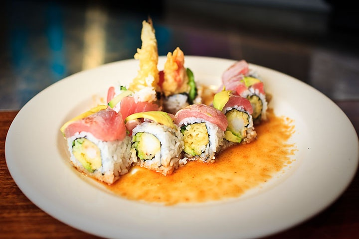 seared ahi crunchy roll | Yummy stuff | Pinterest