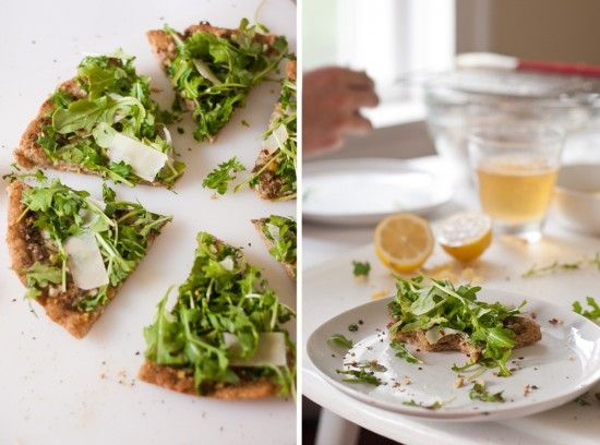 Pesto Pizza with Fresh Arugula and Parmesan - Cookie and Kate