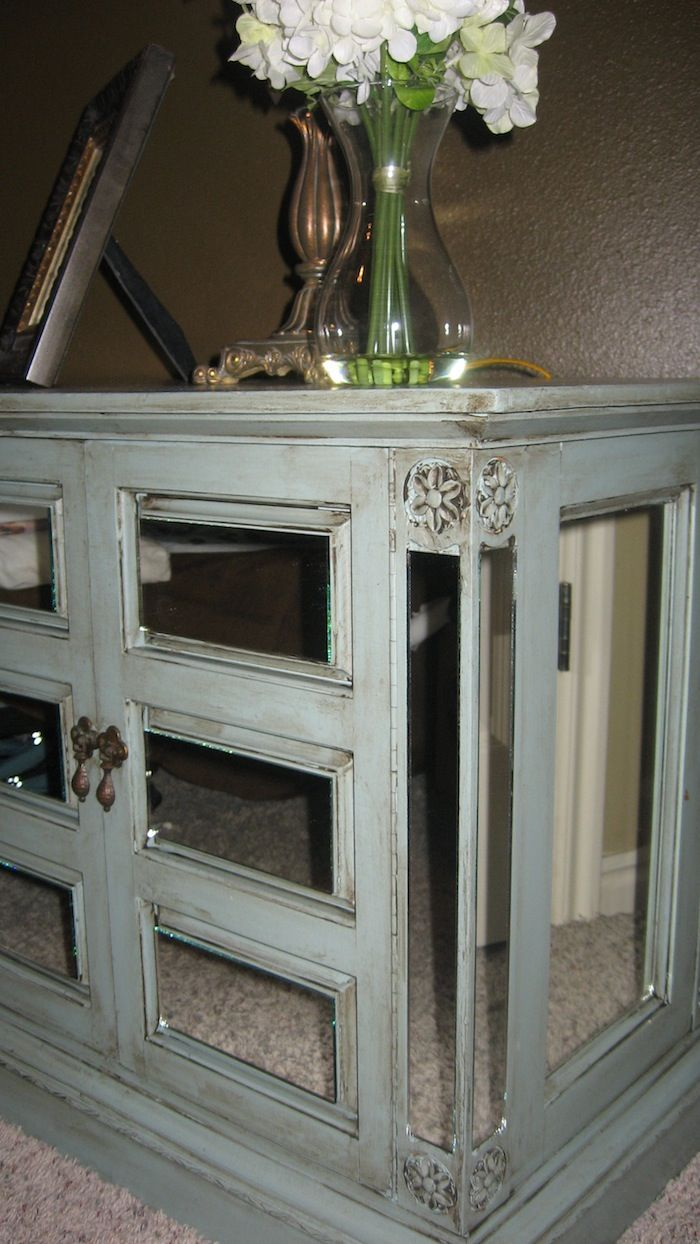 Diy mirror nightstand craft ideas pinterest for How to make a mirrored nightstand diy