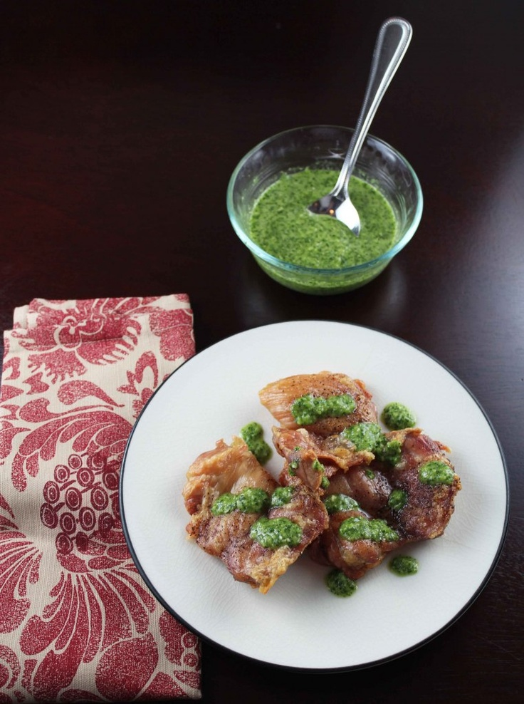 Spicy Chimichurri with Chicken Thighs | Stuff I Like | Pinterest