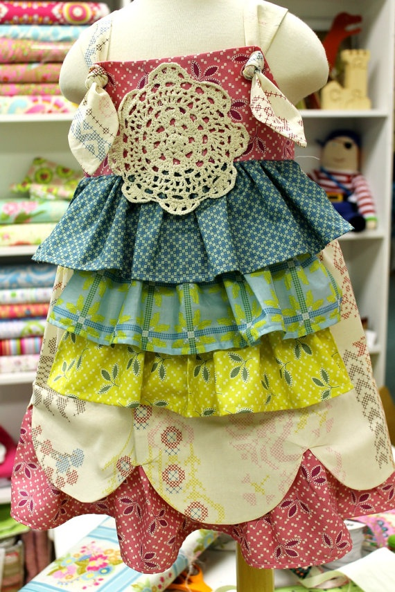 Girls Spring Easter Dress    Flea Market Friday  by LottieDaBaby, $62.00