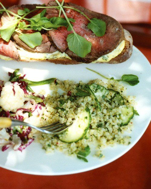 Quinoa Salad with Cucumber- Made this with rice vinegar and basil ...