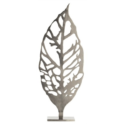Hyde iron leaf sculpture high camp home interior design and home