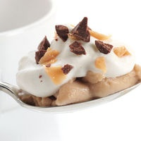 Butterscotch Puddings with Whipped Cream and Crushed English Toffee
