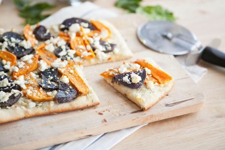 Potato and Feta Pizza-Between the sweet potatoes, garlic, rosemary ...