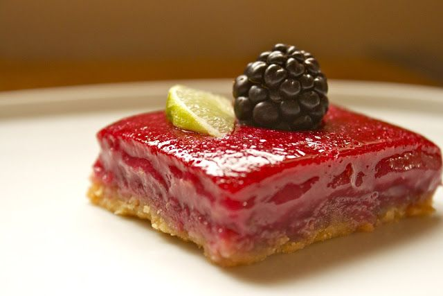 CosmoCookie: Blackberry Limeade Bars | Edible: Sweet (Brownies & Bars ...