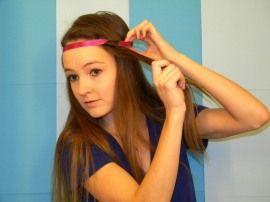 Step by step headband curls..... :)