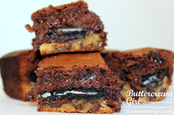 Slutty Brownies Recipe | Yummies | Pinterest