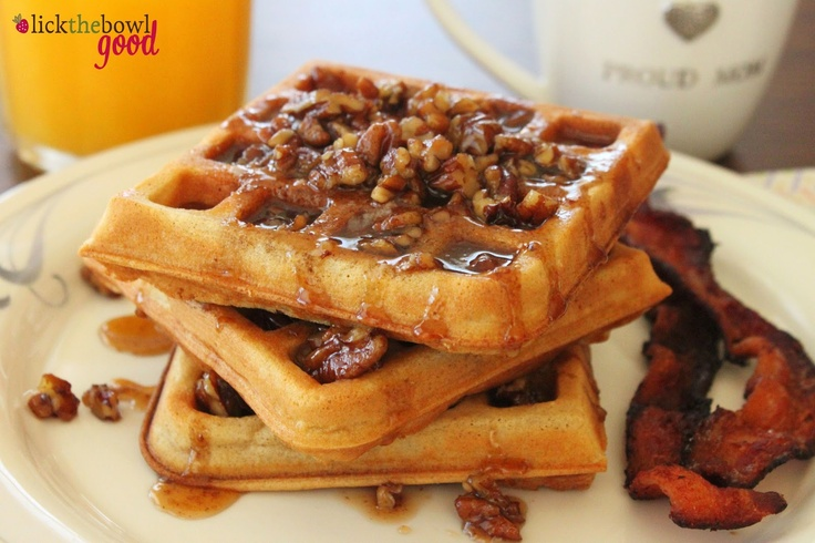 Insanely Great Waffles w/Buttered Pecan Syrup