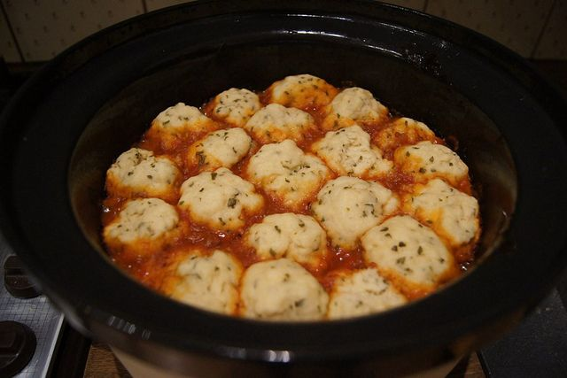 Beef Goulash and Dumplings – Slow Cooker Recipe