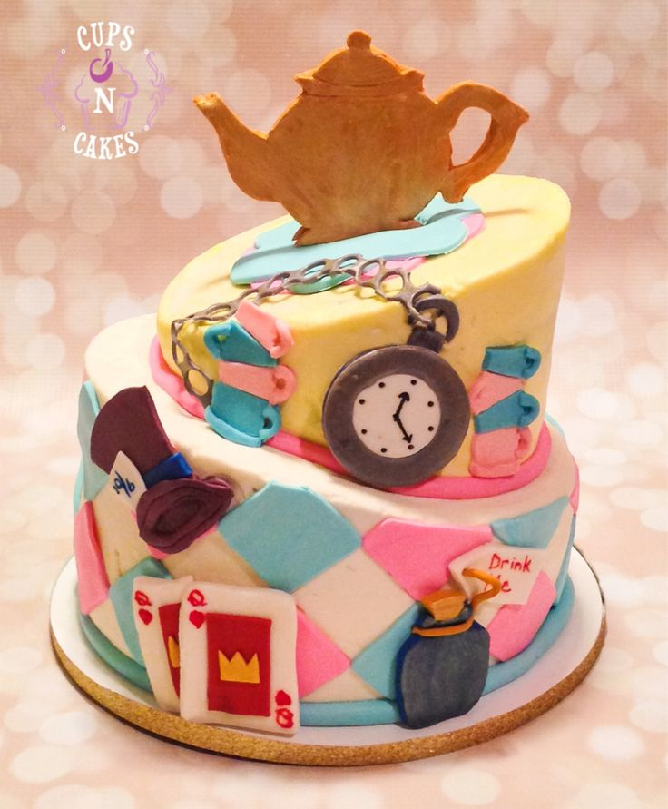 alice in wonderland baby shower cake cups n cakes pinterest