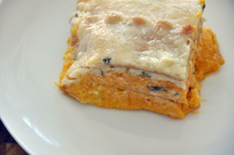 Butternut Squash Lasagna with Sage and Goat Cheese