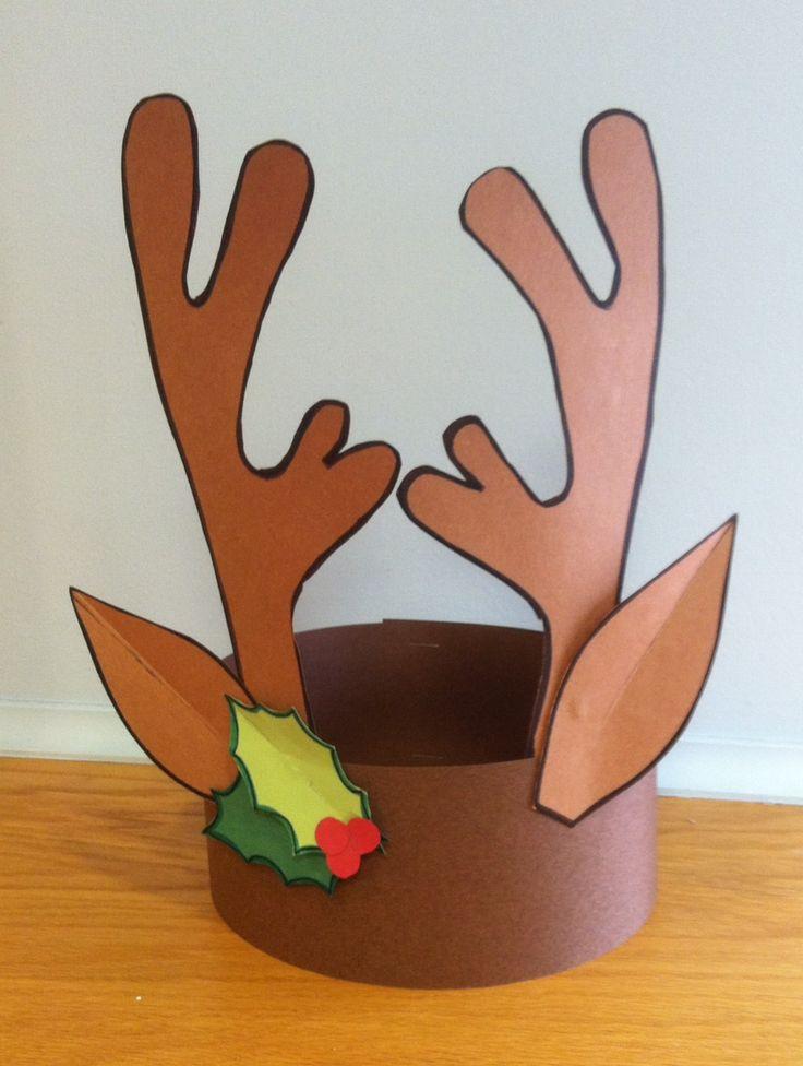 Reindeer Headband Craft. Library Winter Open House 2013.