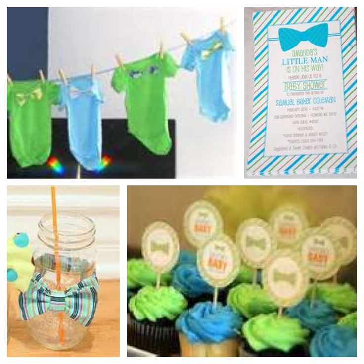 bow tie theme baby shower pinterest
