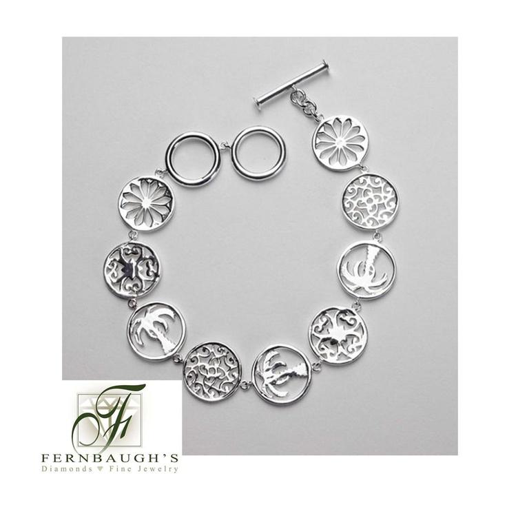 charm bracelet w toggle clasp southern gates jewelry