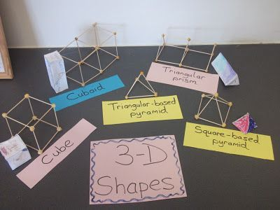 3d Shapes Great For A Math Activity Toothpicks And