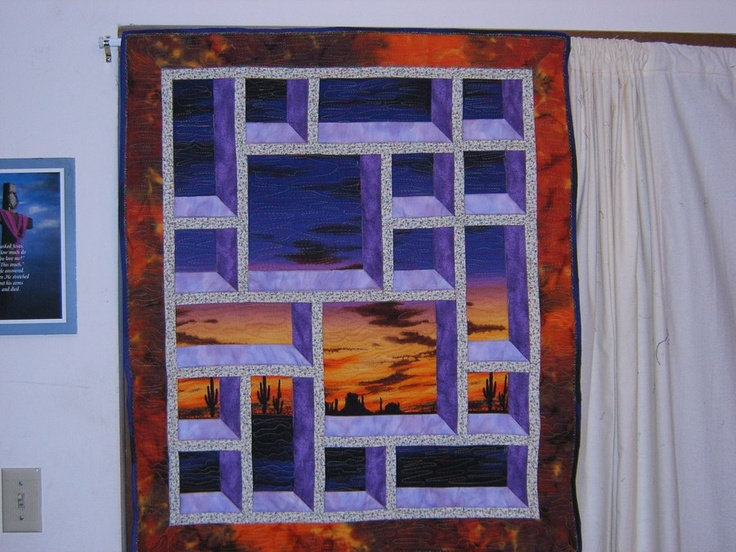 Attic window quilt it pinterest for Window quilts