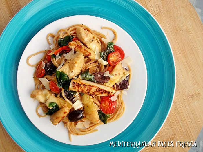 Mediterranean Pasta Fresca with Anthony's Whole Grain