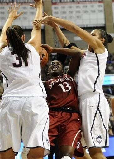 Chiney Ogwumike double teamed