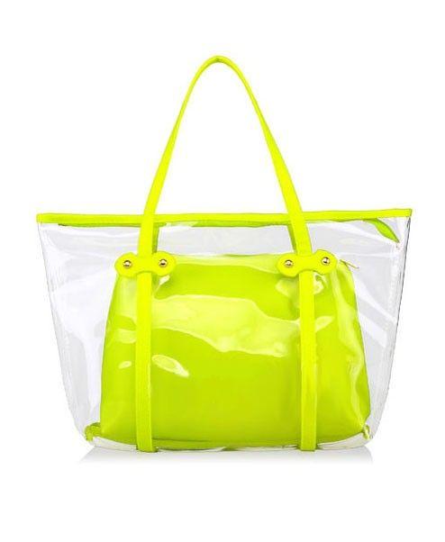 Neon Green Shopper Bags