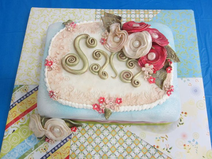 Birthday Cake Images For Fiance : Birthday cake for fiance s grandmother, Sara. All ...