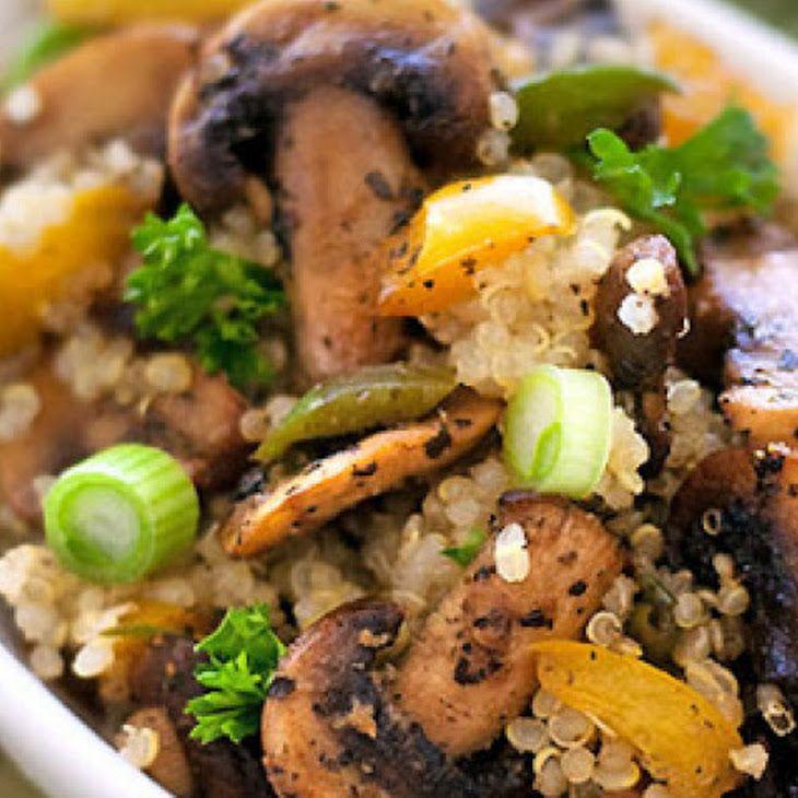 Quinoa Mushroom Pilaf Recipe — Dishmaps