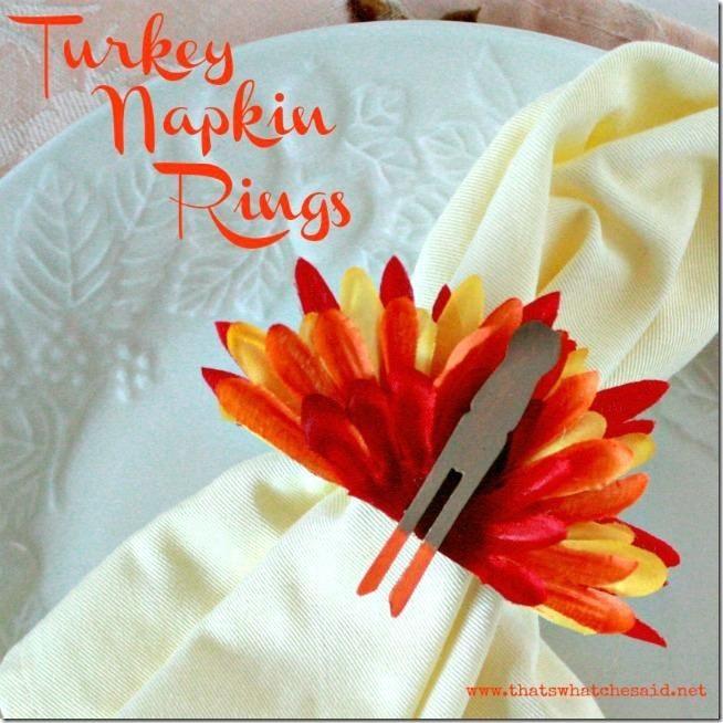 diy thanksgiving turkey napkin rings holiday pinterest