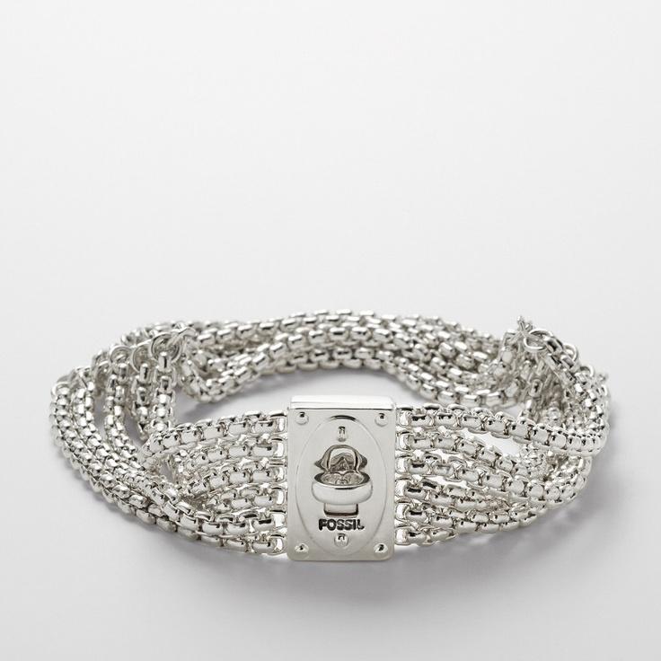 Fossil Turnlock Chain Bracelet $68