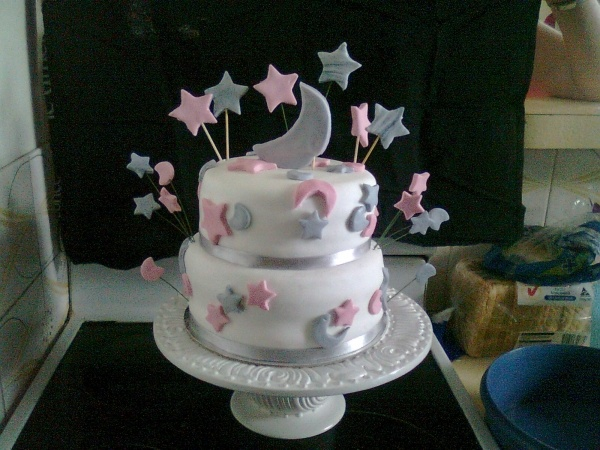 star and moon cake