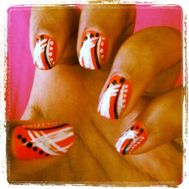 My original nail design | Look at those nails | Pinterest