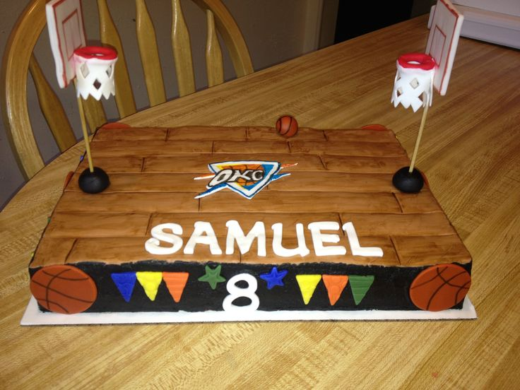OKC basketball court cake | Wilson Cakes and Events ...
