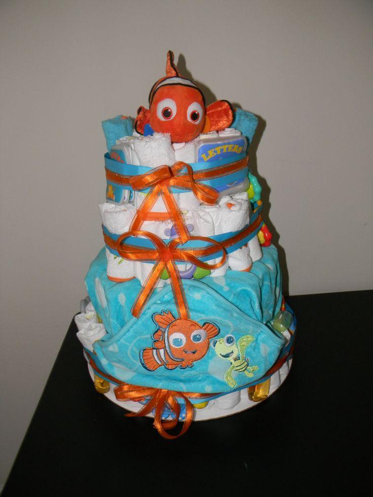 finding nemo diaper cake diaper cakes pinterest